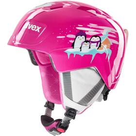 UVEX Manic Helm Kinderen, pink penguin